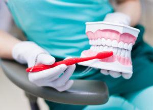 dental exam diagram brushing